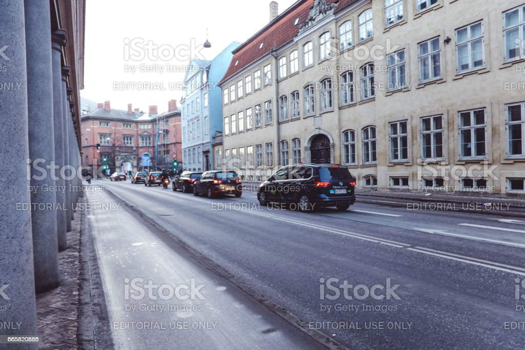 In the Streets of Copenhagen stock photo