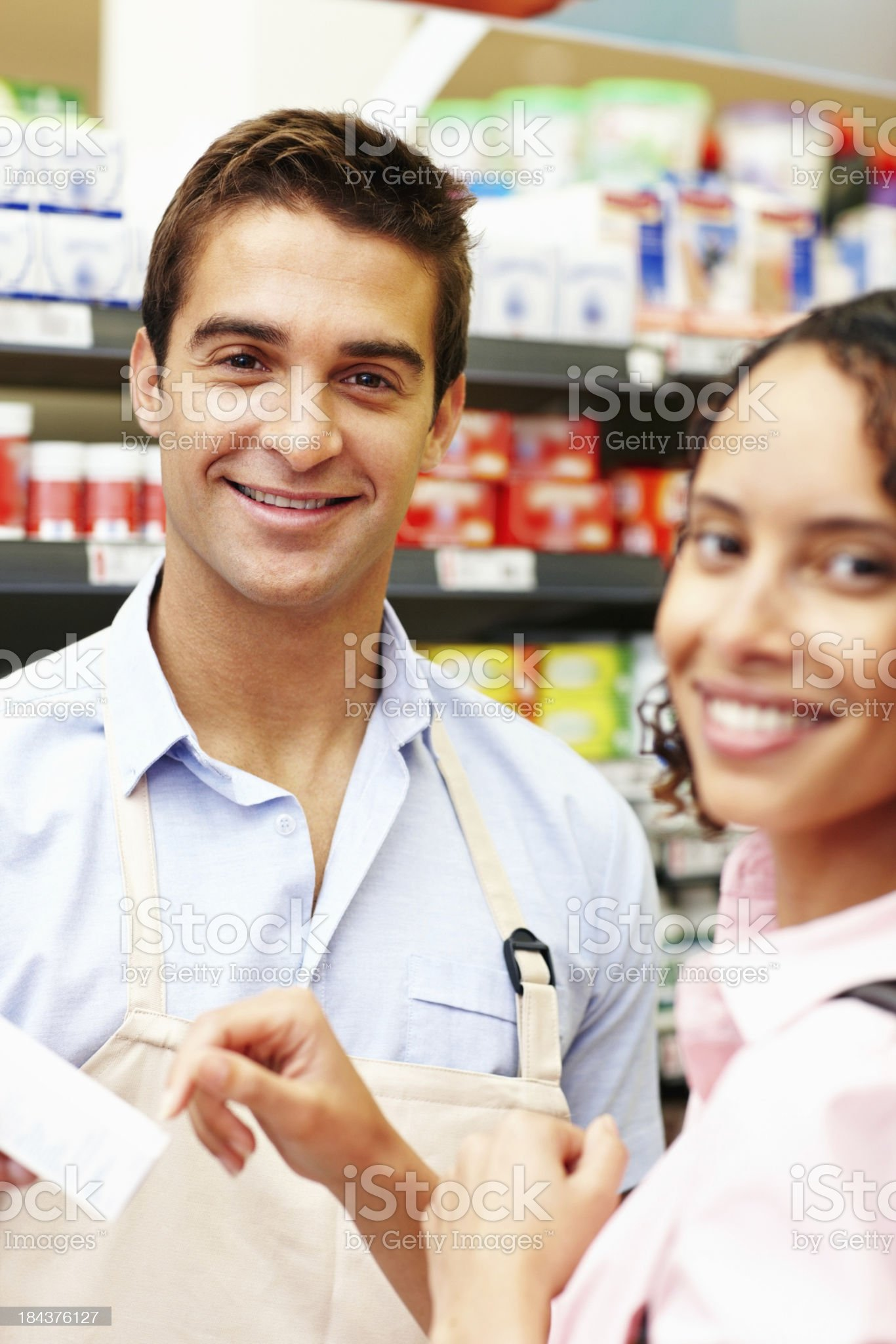In the super market royalty-free stock photo