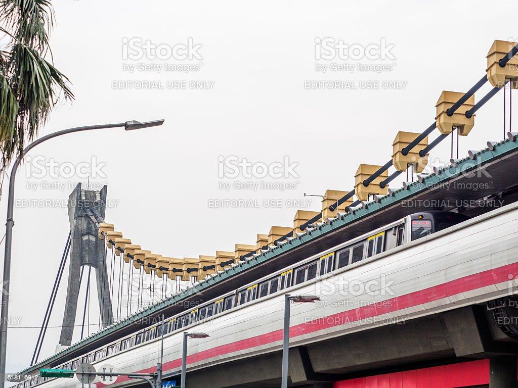 MRT in the Taipei, Taiwan stock photo