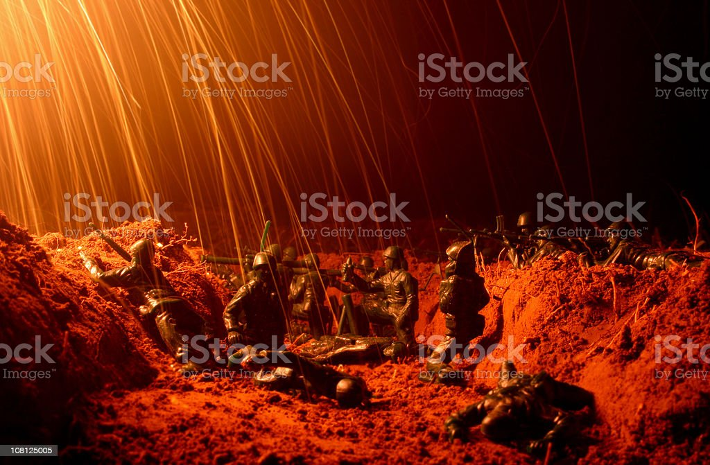 In the Trenches of War stock photo
