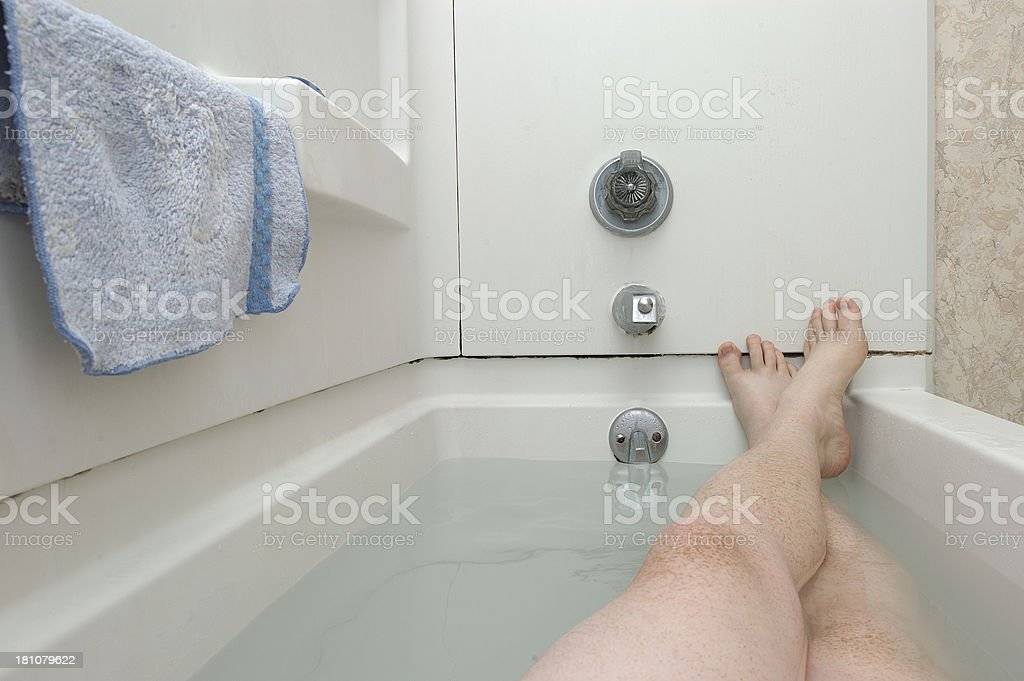 in the tub 3 stock photo