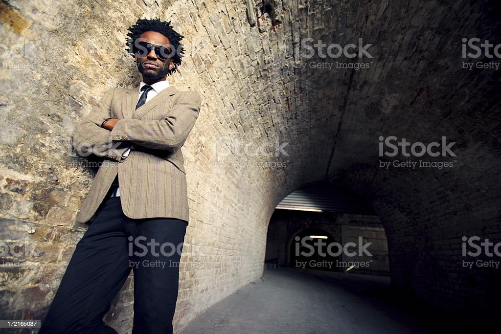 in the tunnel royalty-free stock photo