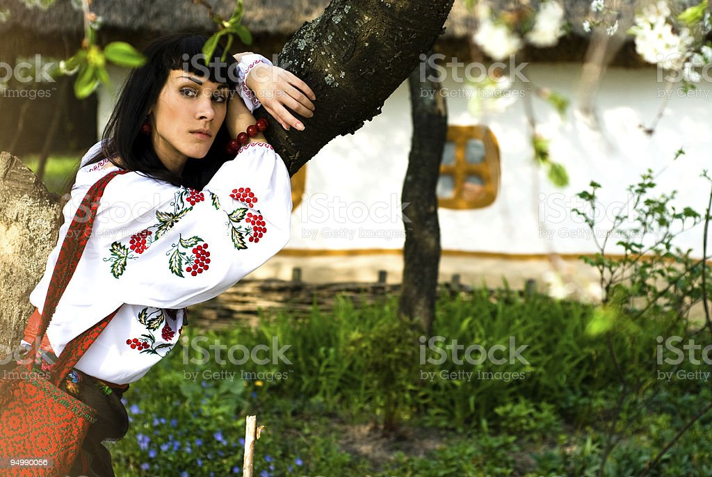 In the village royalty-free stock photo