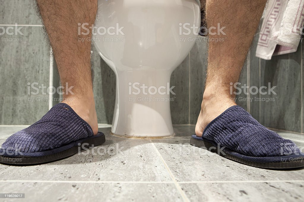 in the wc stock photo