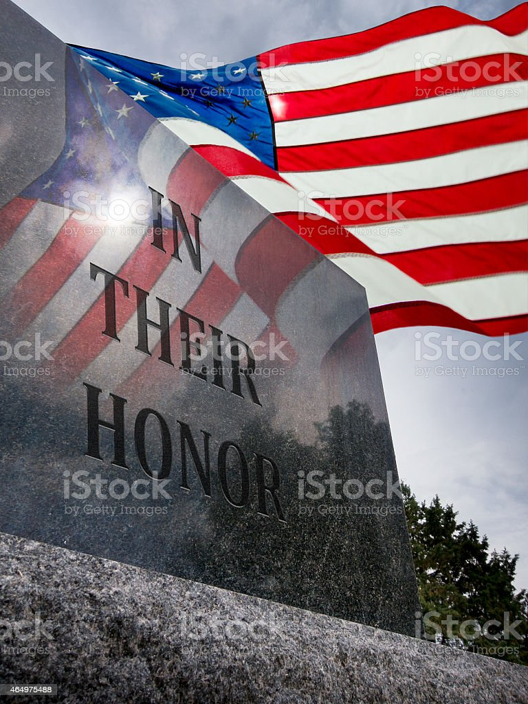 In Their Honor For Service To Our Country stock photo