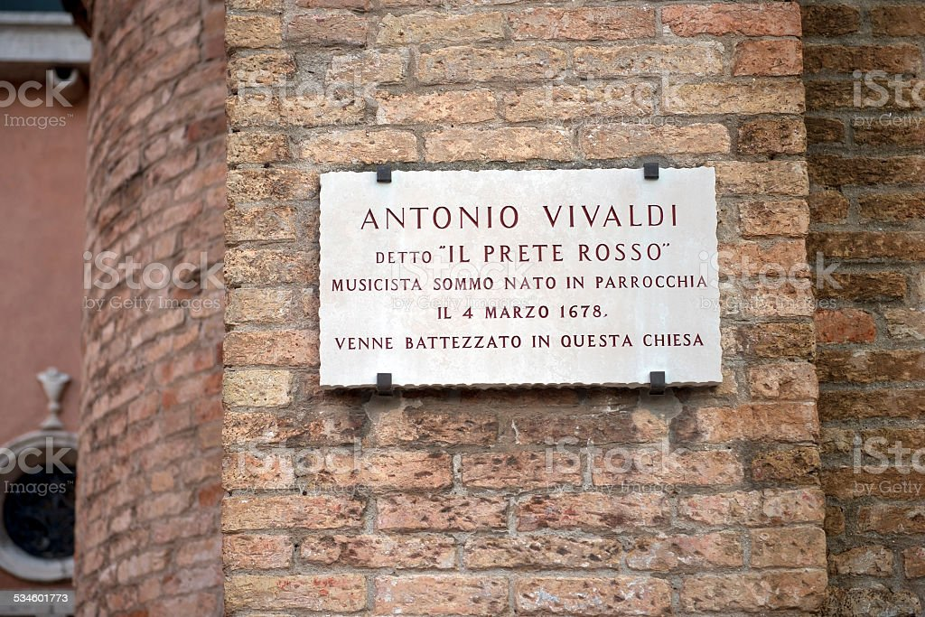 in this church was baptized Antonio Vivaldi, Venice stock photo