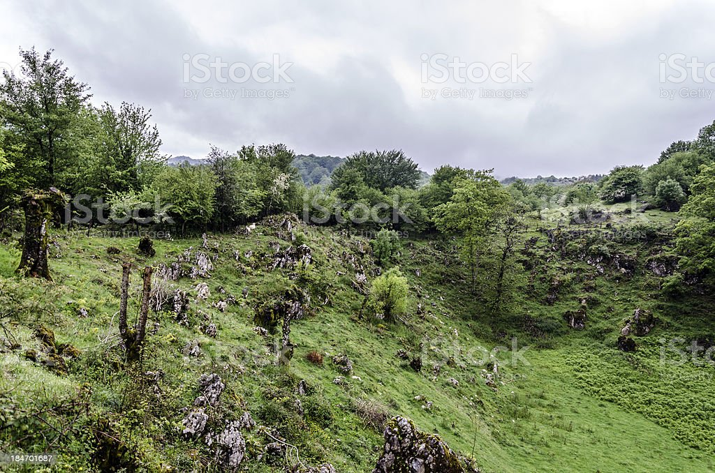 In to the mountain hill royalty-free stock photo