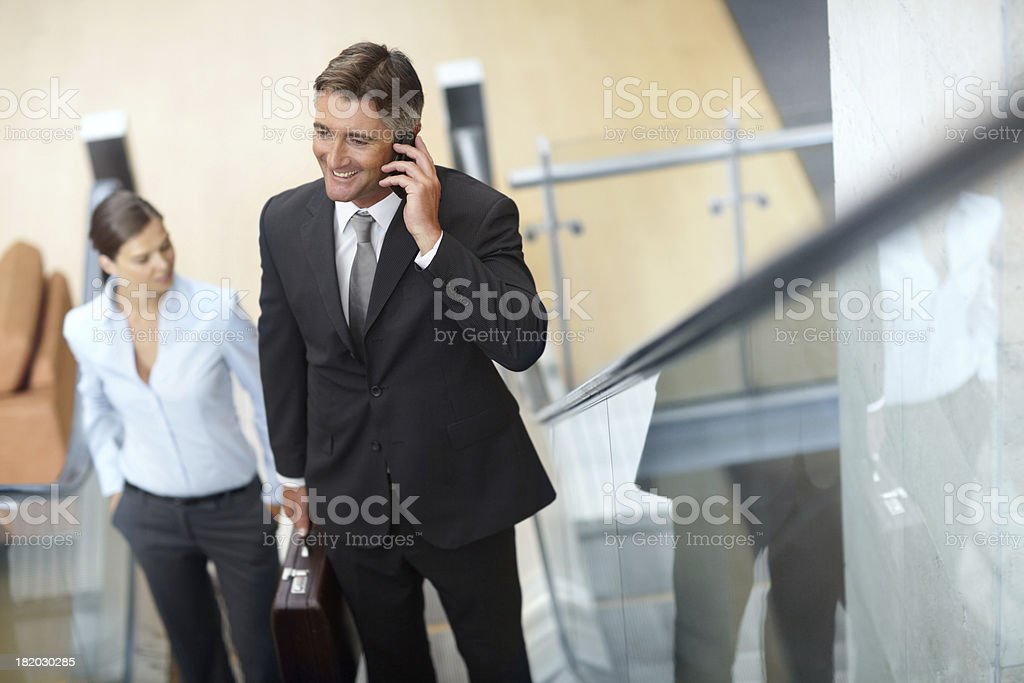 In touch while on the go royalty-free stock photo