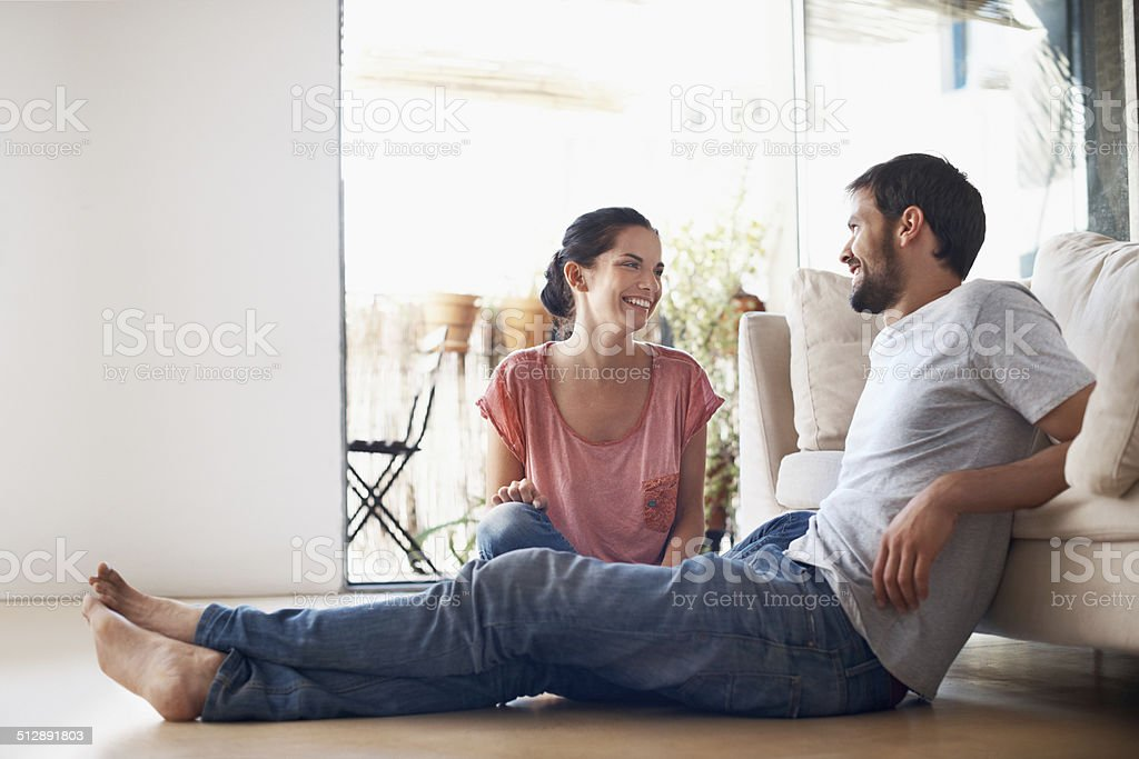 In touch with each other stock photo