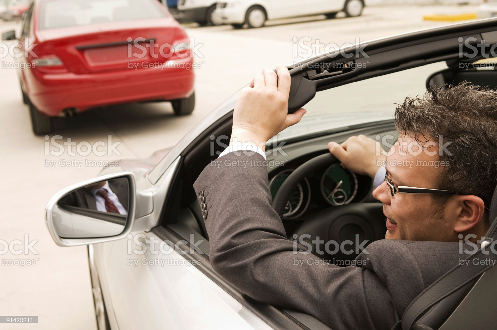In traffic royalty-free stock photo