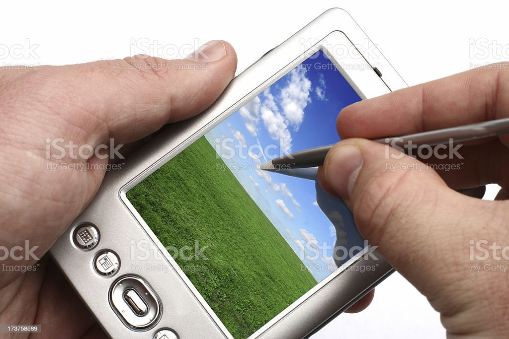 PDA - in use royalty-free stock photo