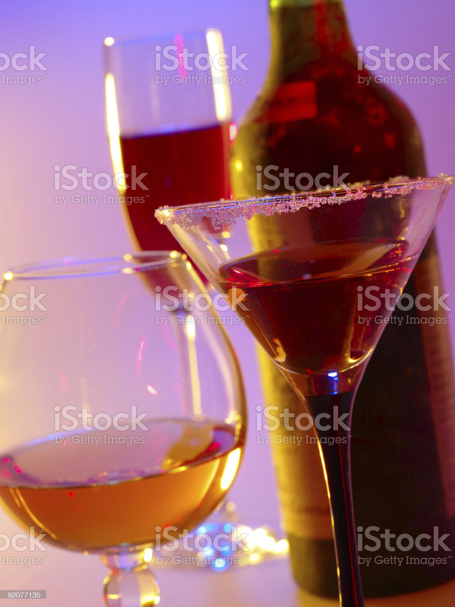 In vino veritas. still-life with glasses royalty-free stock photo