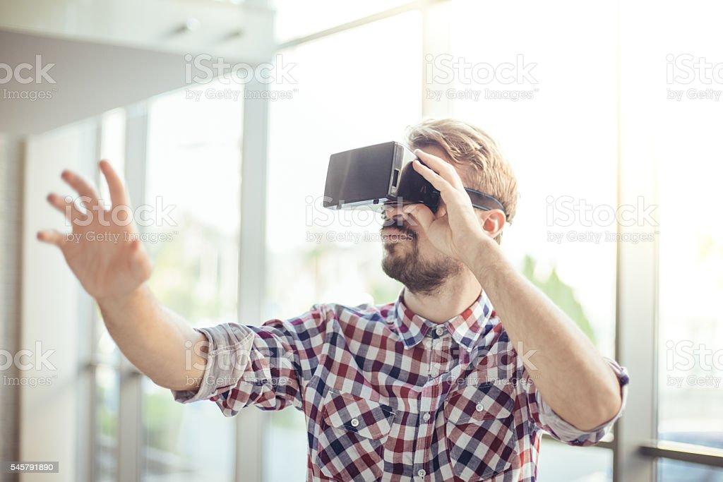 In virtual reality stock photo