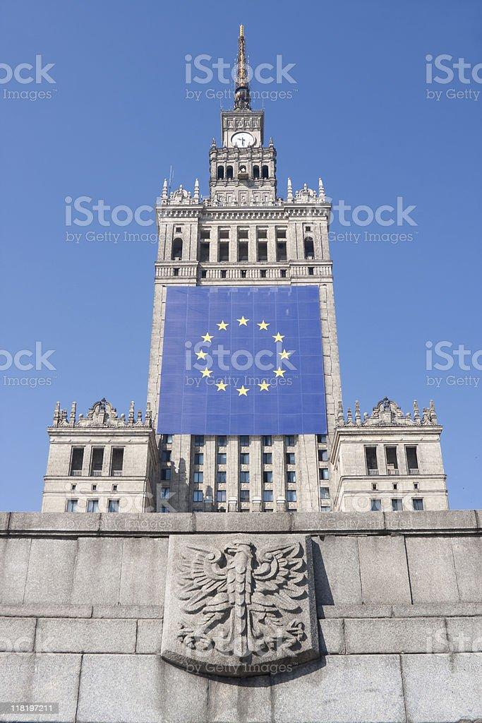EU in Warsaw royalty-free stock photo