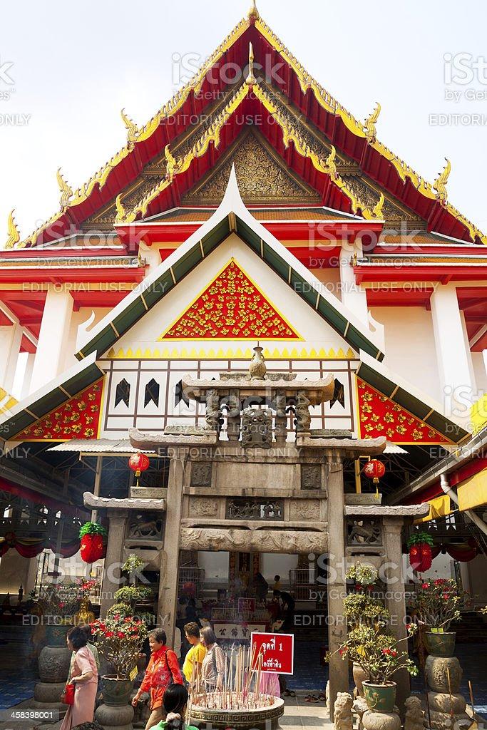 In Wat Kanyalanamit royalty-free stock photo