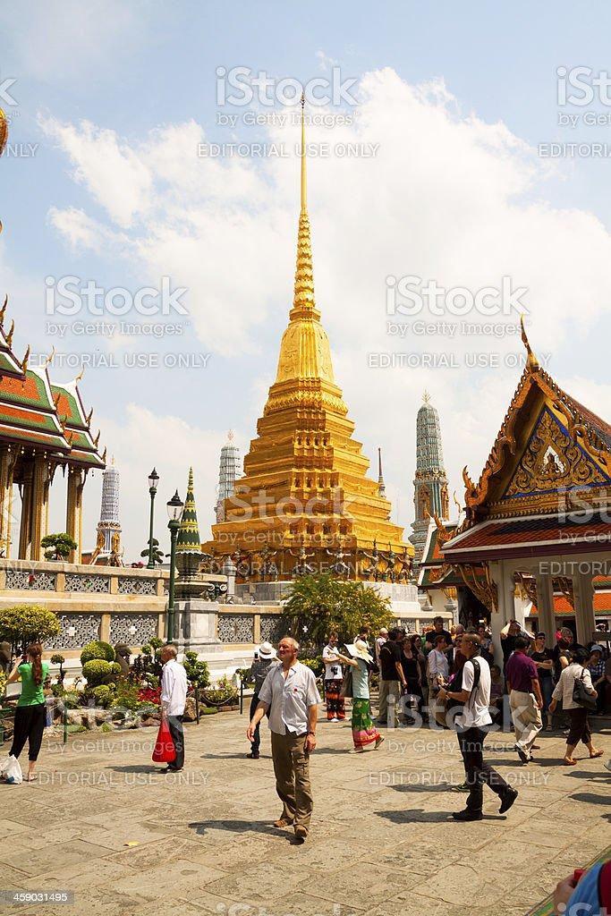 In Wat Phra Kaeo royalty-free stock photo