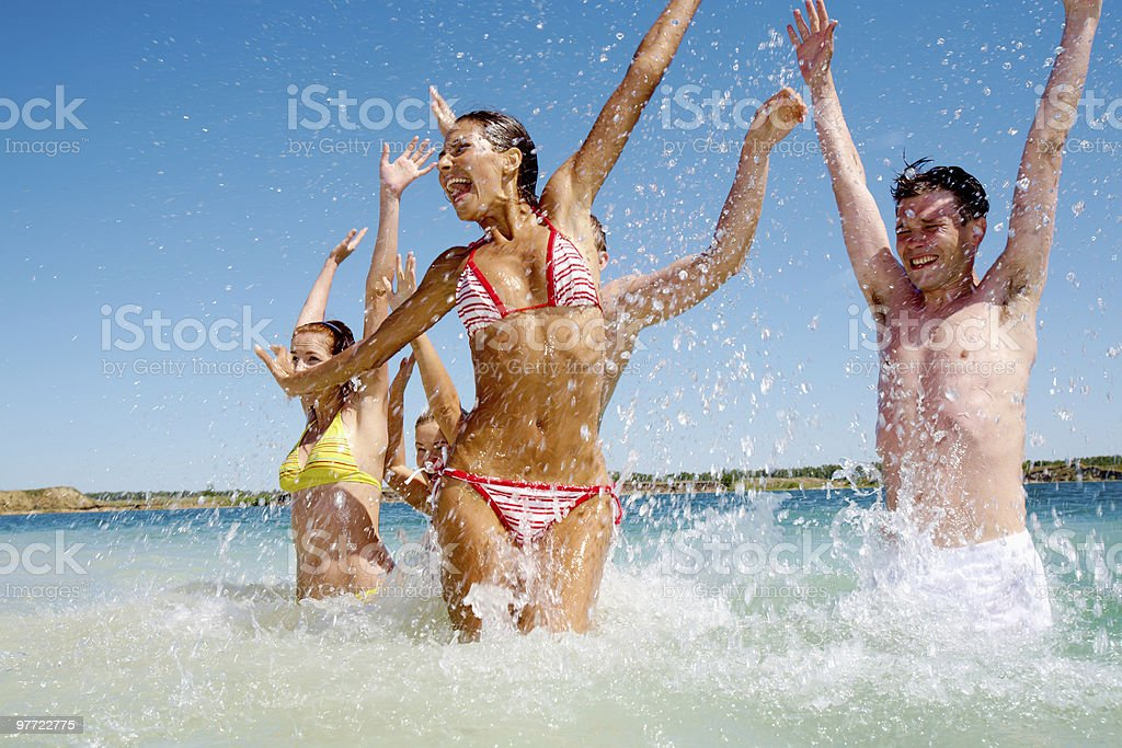 In water royalty-free stock photo