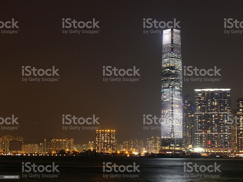 ICC in west Kowloon stock photo