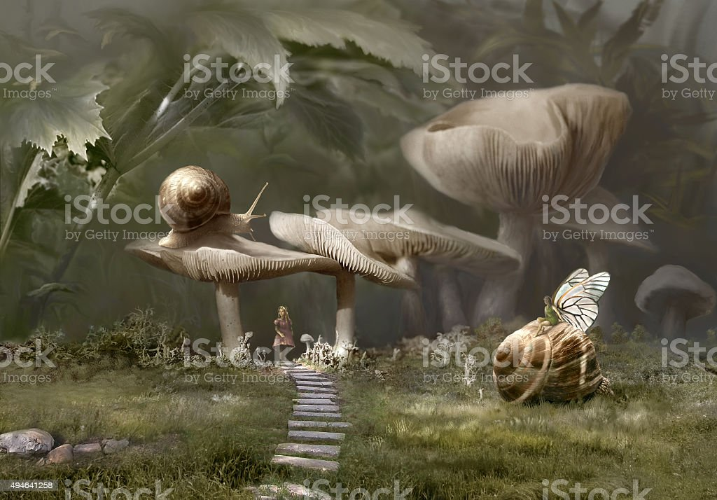 In Wonderland stock photo