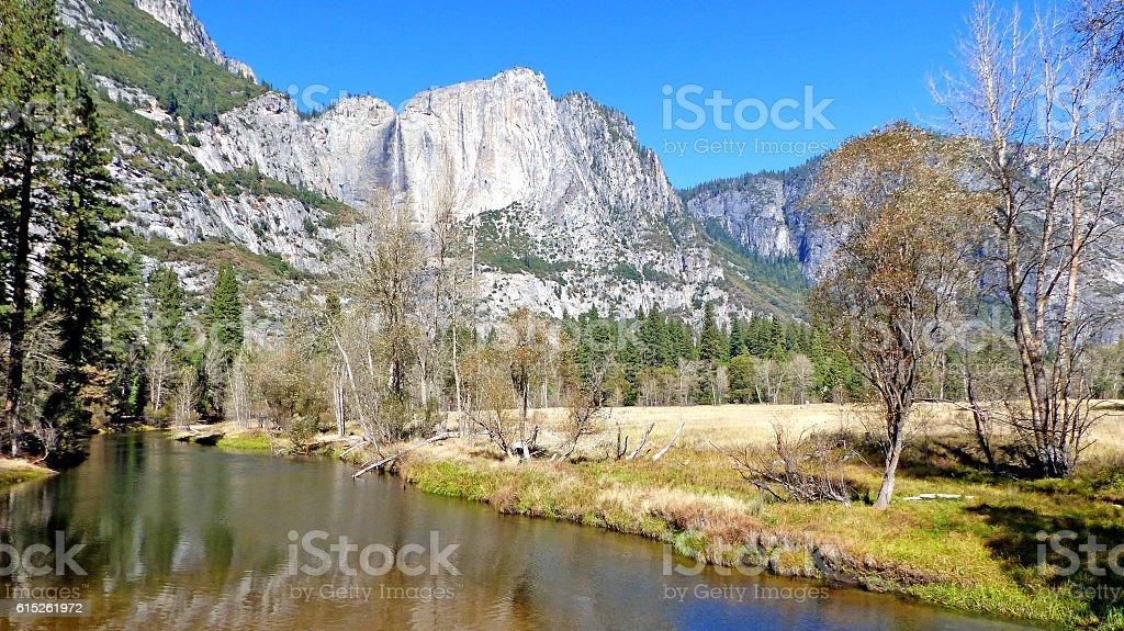 In Yosemite Valley in California stock photo