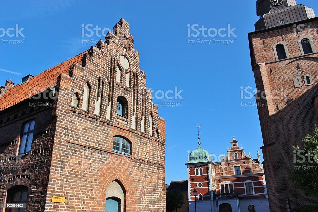 In Ystad, Southern Sweden, Scandinavia, Europe. stock photo