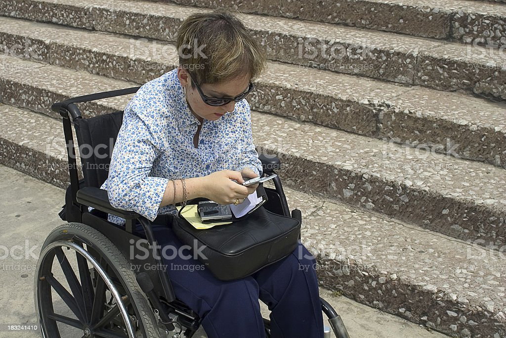 inaccessible building, accessible technology stock photo