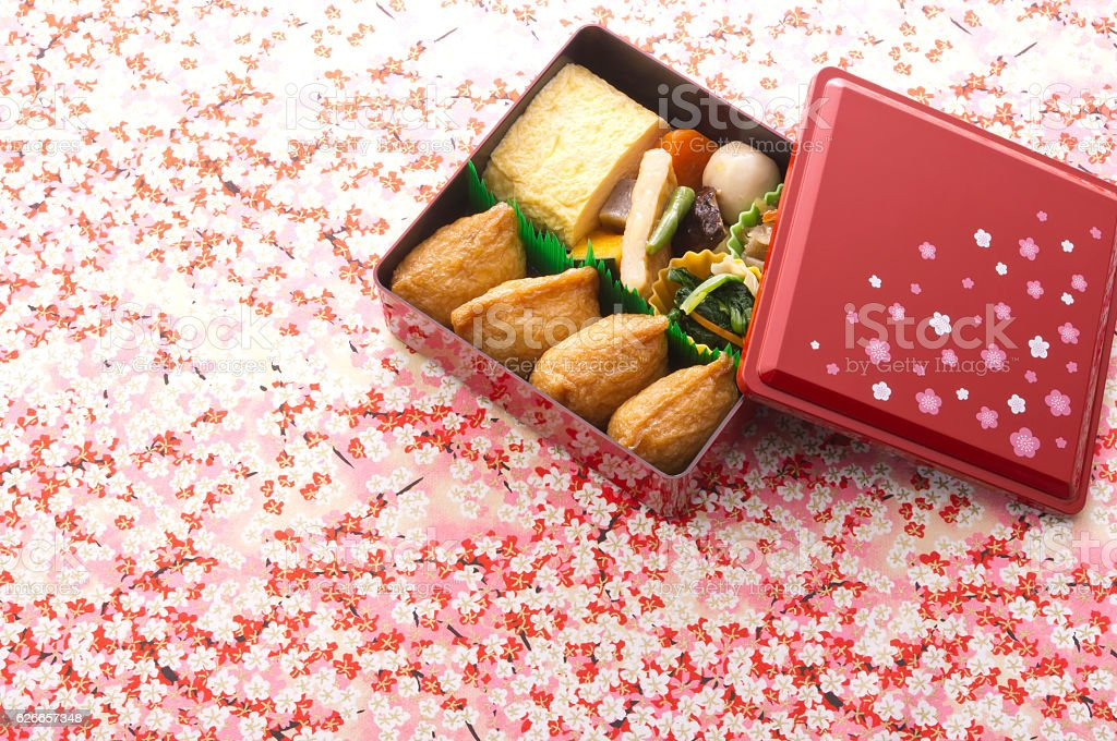 Inari lunch box stock photo
