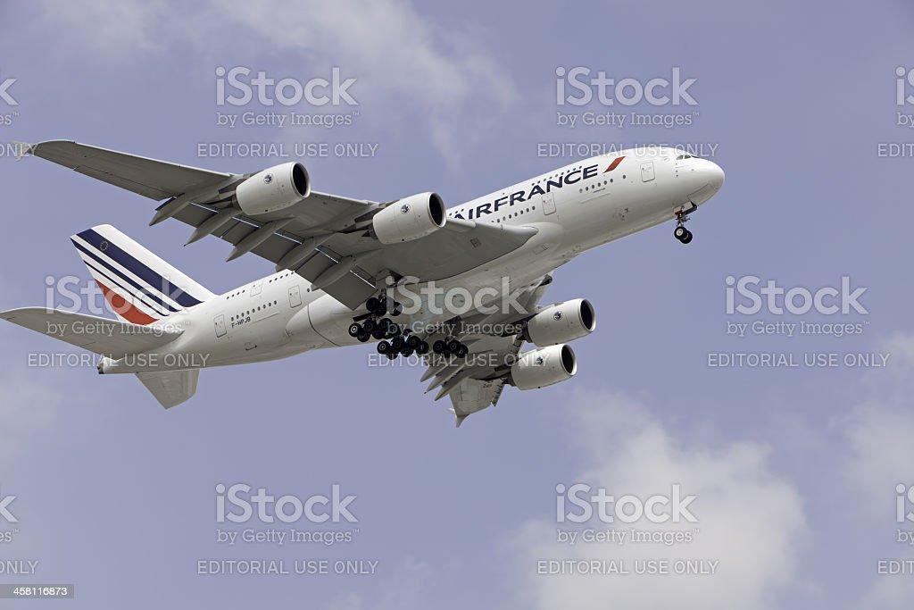Inaugural Airbus A380 Flight to Johannesburg stock photo