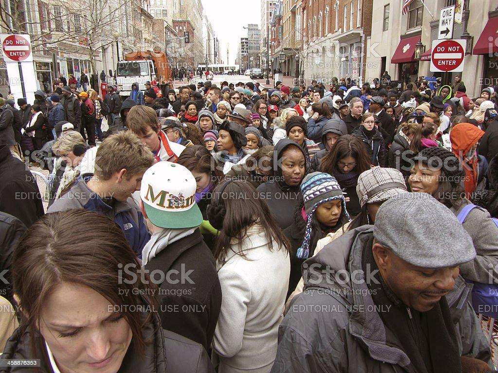 Inaugural Crowd stock photo