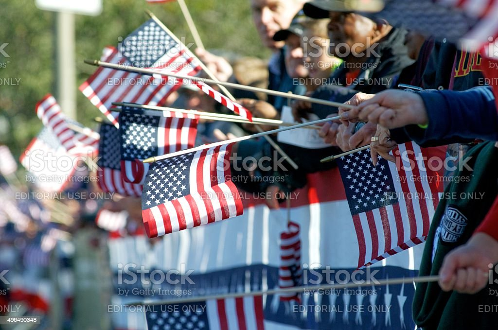 Inaugural Philly Veterans Parade stock photo