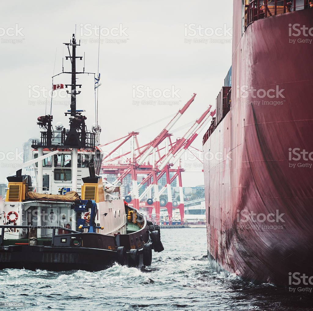 Inbound Container Ship stock photo