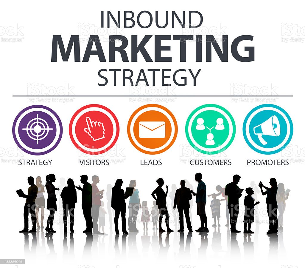 Inbound Marketing Strategy Commerce Solution Concept stock photo