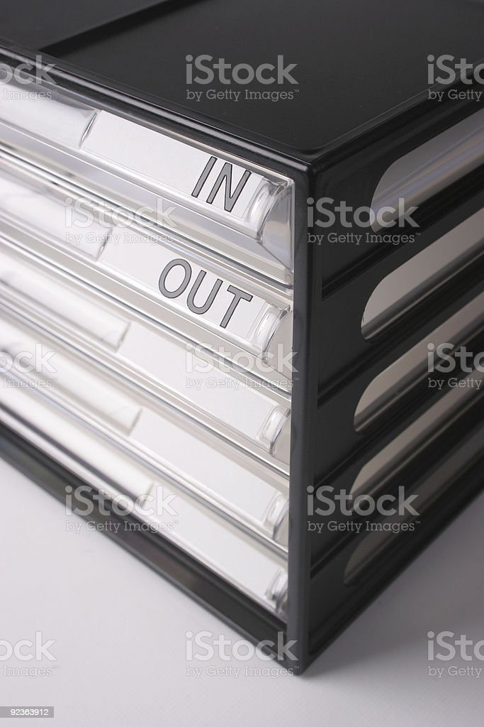 In-box out-box royalty-free stock photo