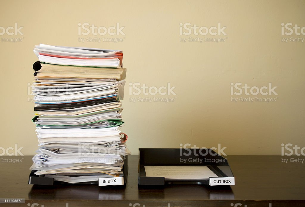Inbox Overload stock photo