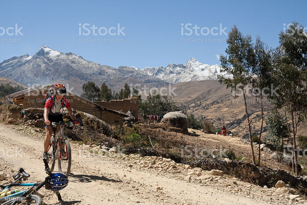 Inca Biking I, Peru royalty-free stock photo