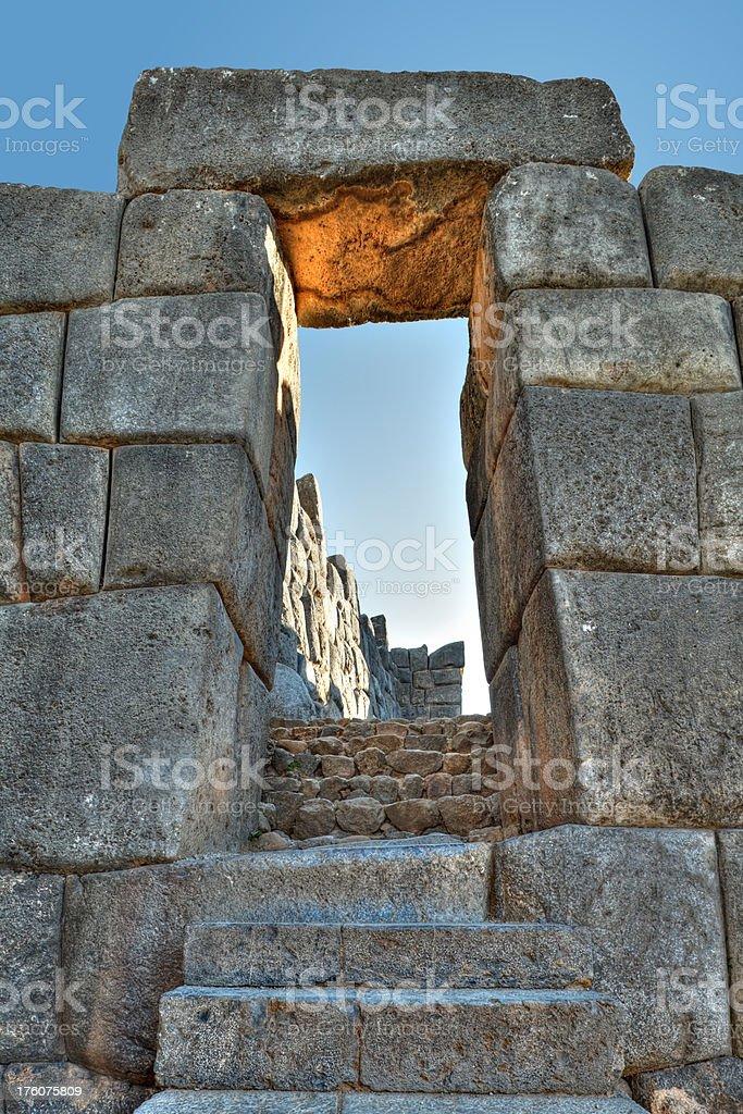 Inca Doorway stock photo