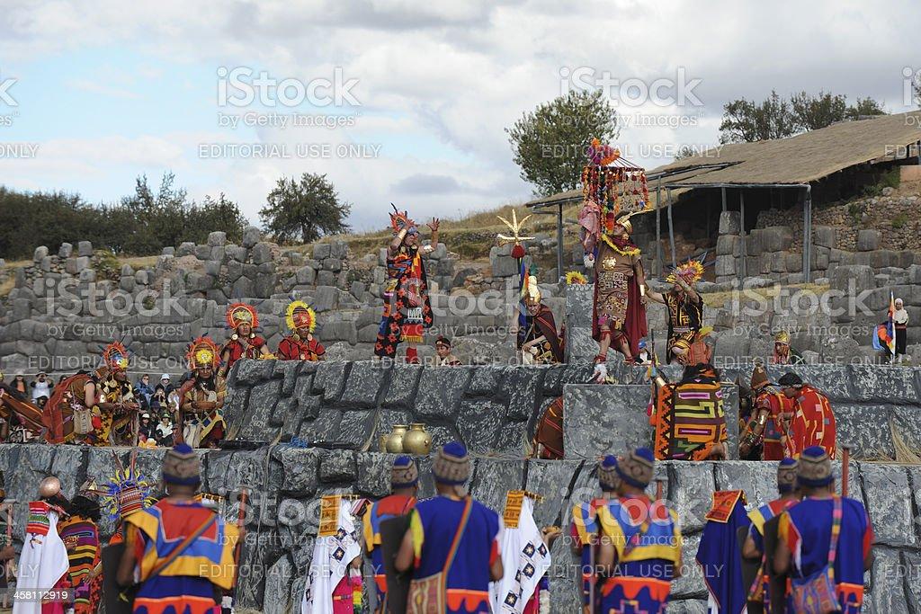 Inca Festival Inti Raymi stock photo