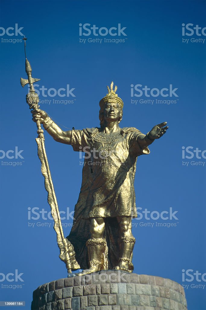 Inca King Atahualpa stock photo