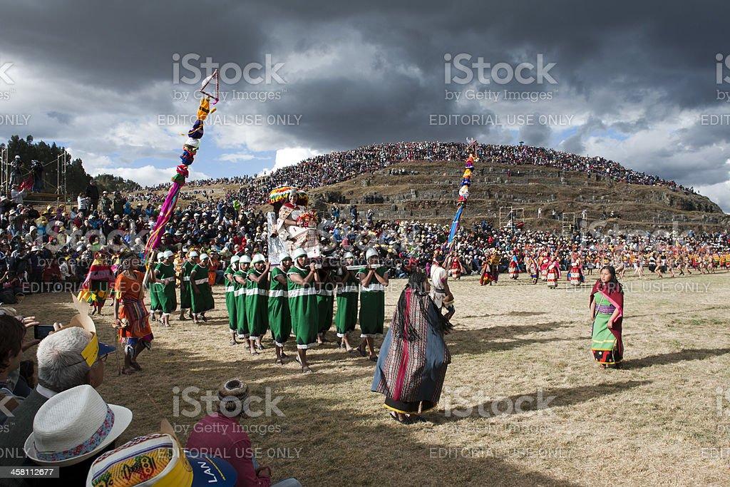Inca Queen at İnti Raymi stock photo