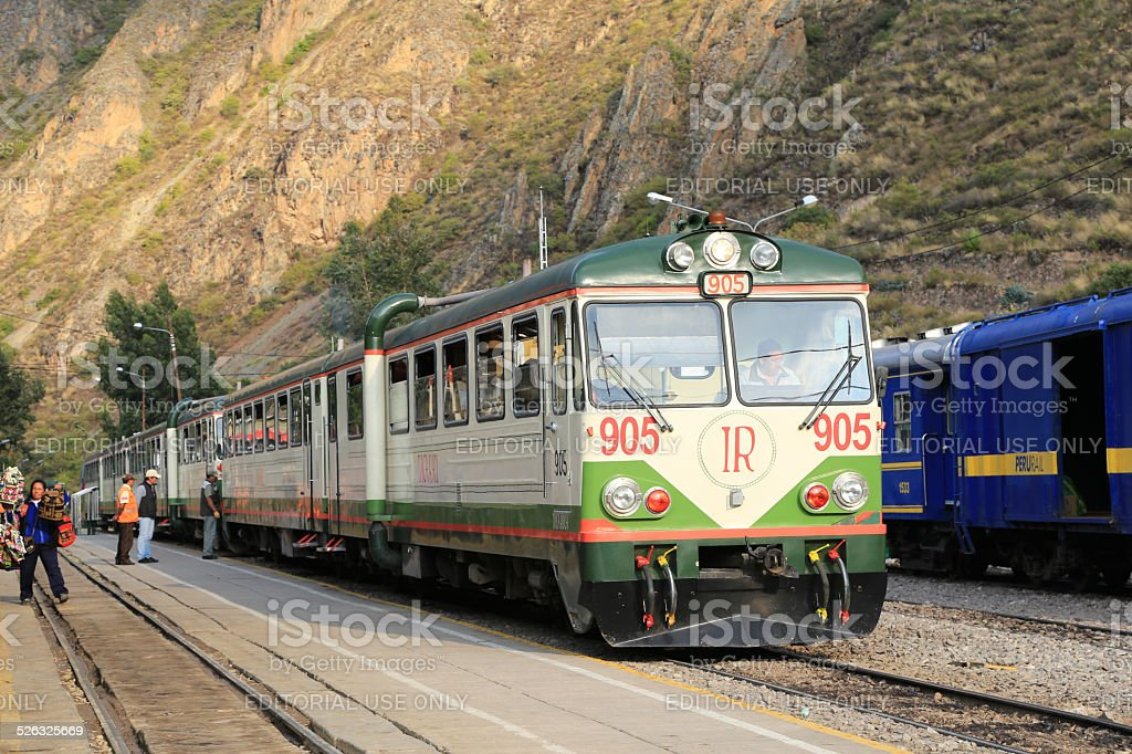 Inca Rail Train to Machu Picchu stock photo
