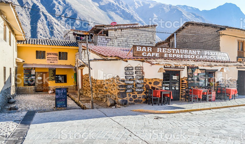 Inca Sacred Valley - Ollantaytambo Village stock photo