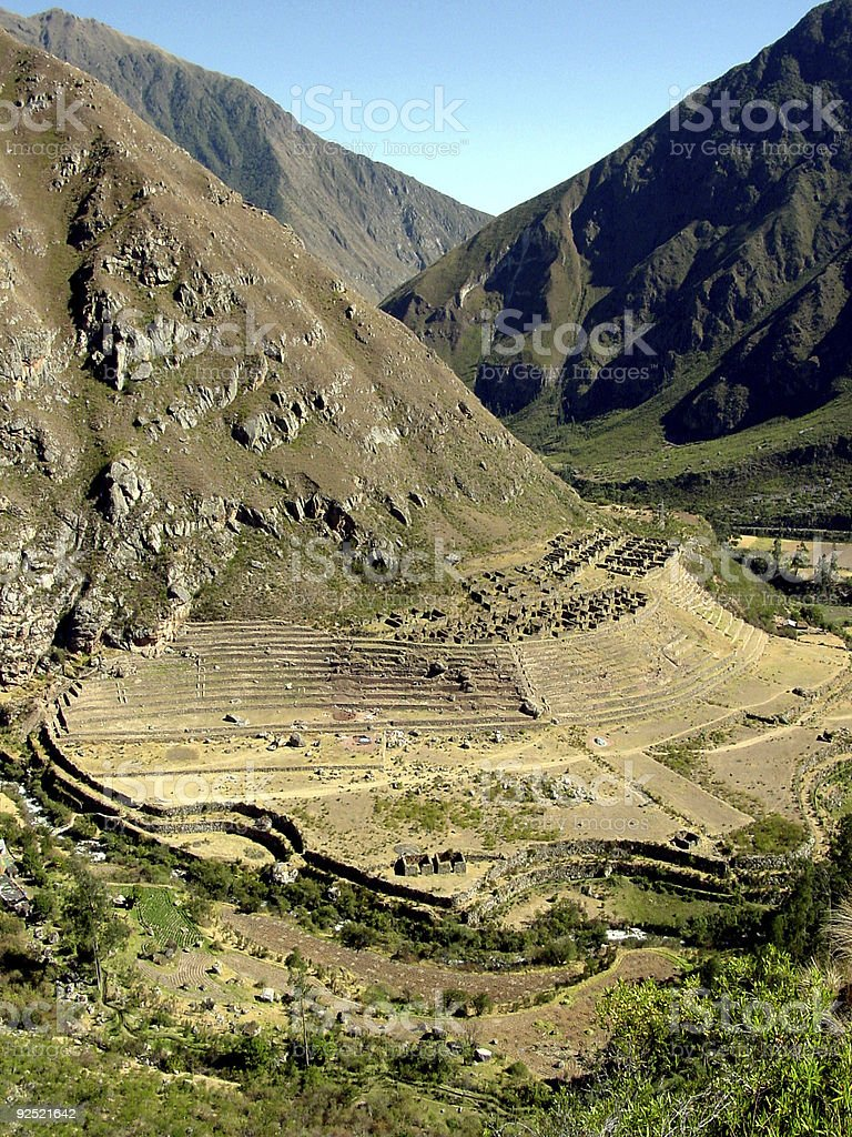 Inca Trail - Llaqtapata royalty-free stock photo