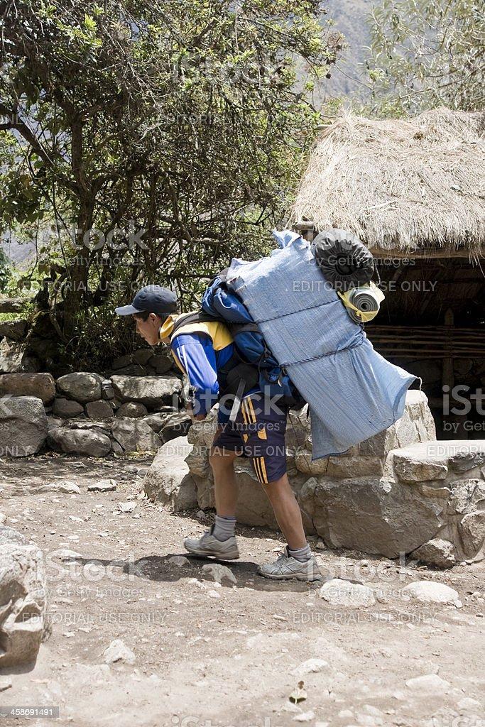 Inca Trail Sherpa royalty-free stock photo