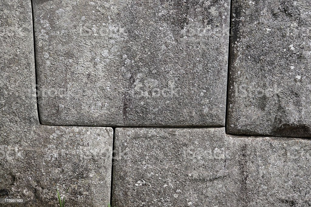 Inca wall detail royalty-free stock photo