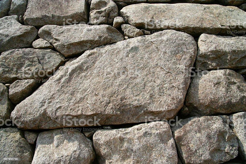 Inca wall in Peru stock photo