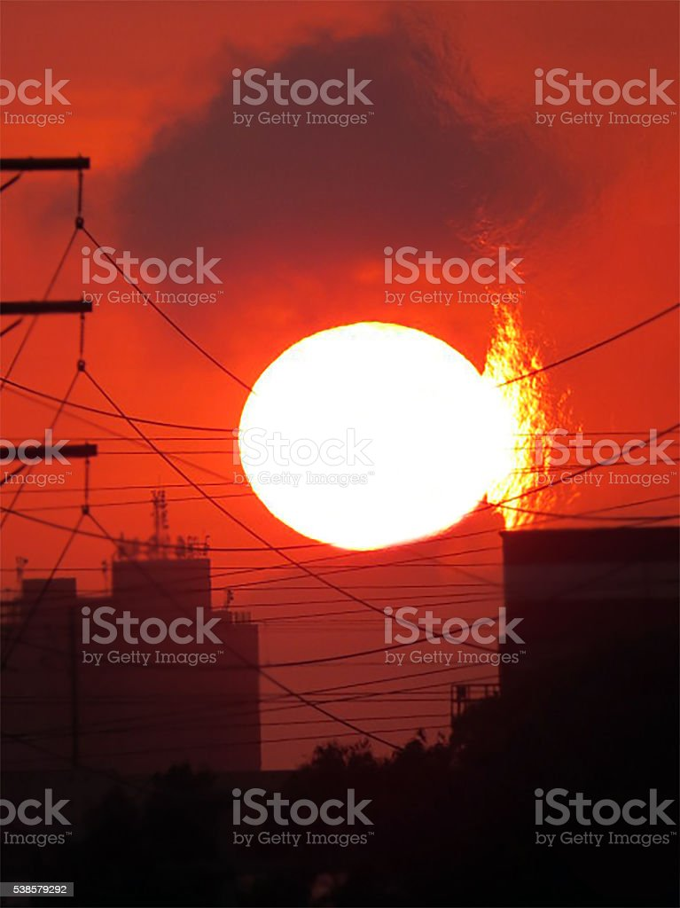 Sol incadencente stock photo