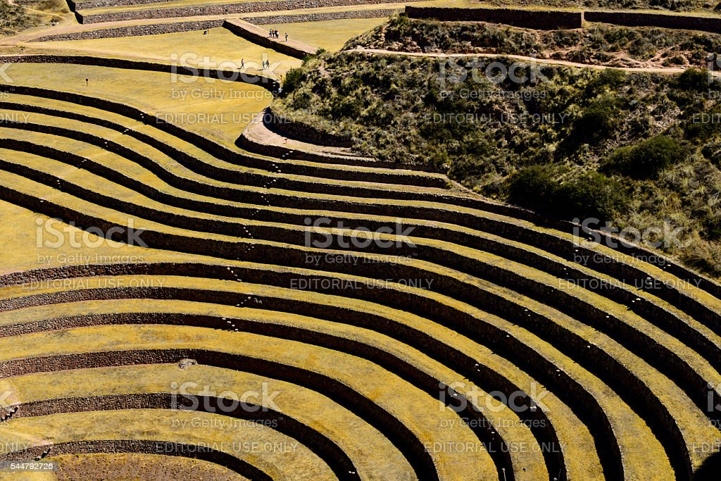 Incan archaeological site of Moray stock photo