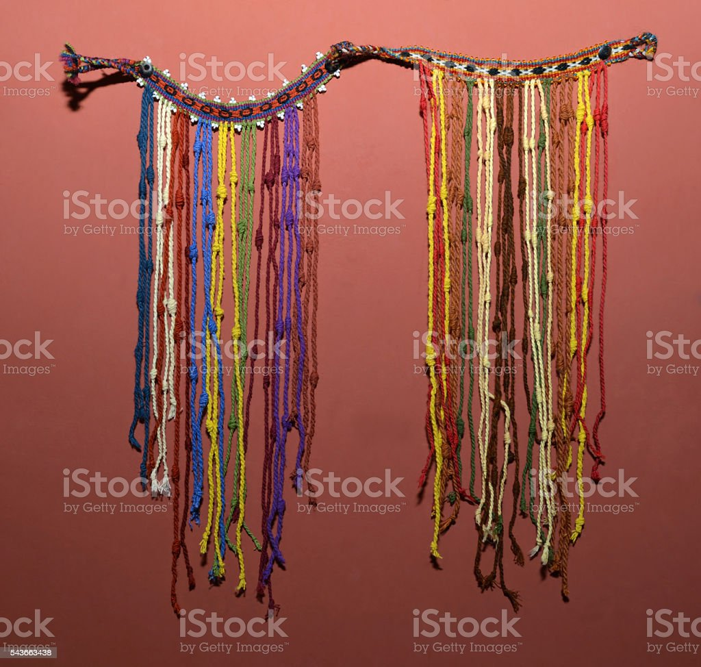 Incan Kipu, talking knots stock photo