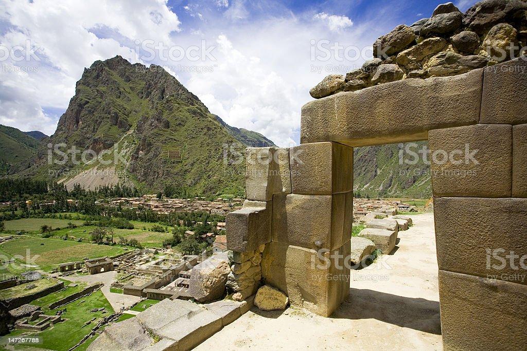 Incan ruins of Ollantaytambo, Peru royalty-free stock photo