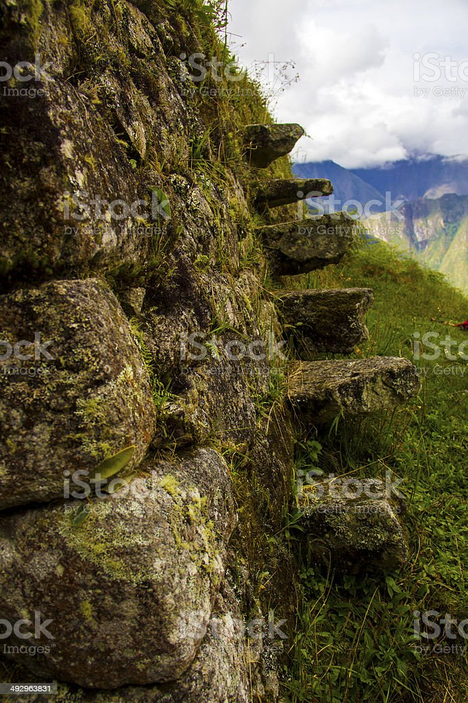 Incan Stairs in the Ruins stock photo
